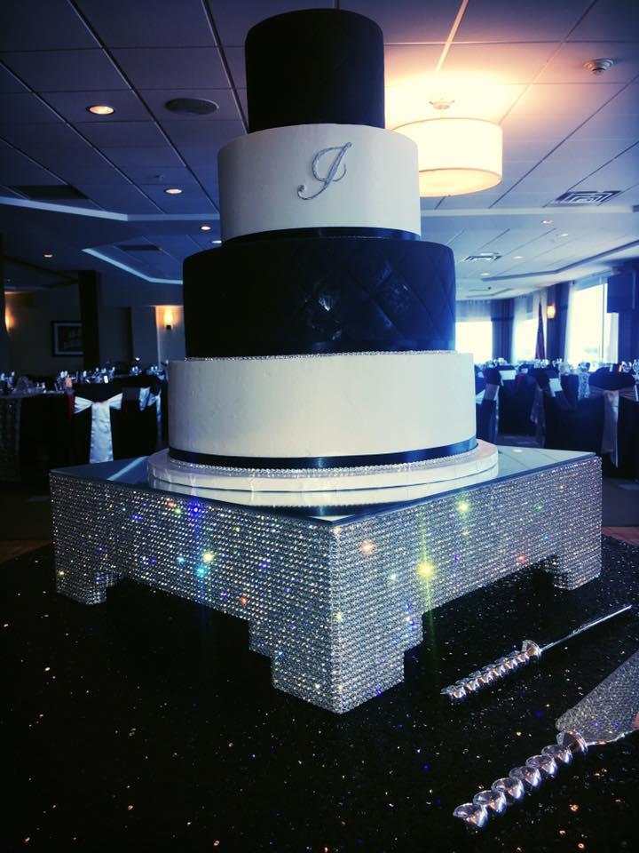 Swarovski Crystal cake platform