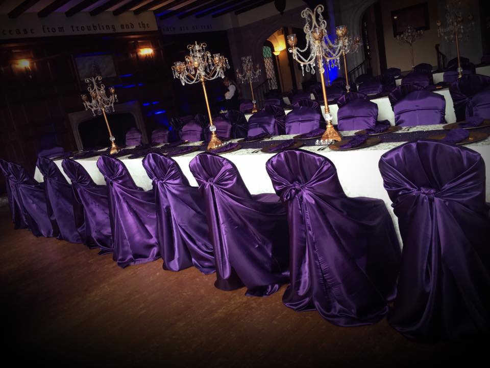 Tie-Back satin chair covers