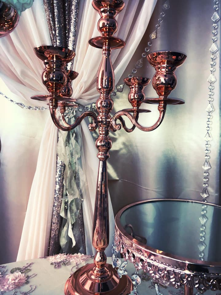 Rose Gold Candleabra