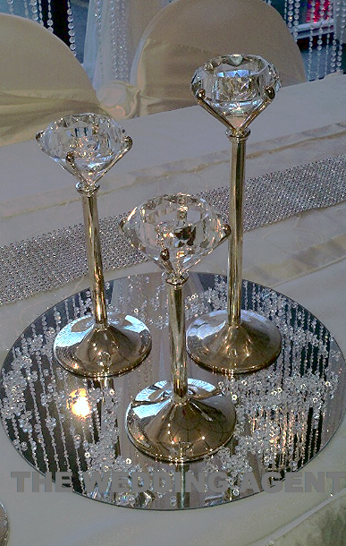3-Pc Diamond Candle Centerpiece