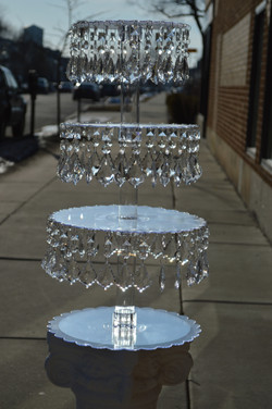 Lucite Crystal Cupcake Tower