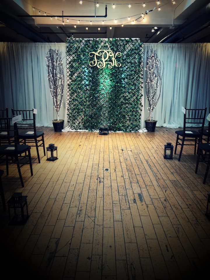 Greenery Ceremony Wall