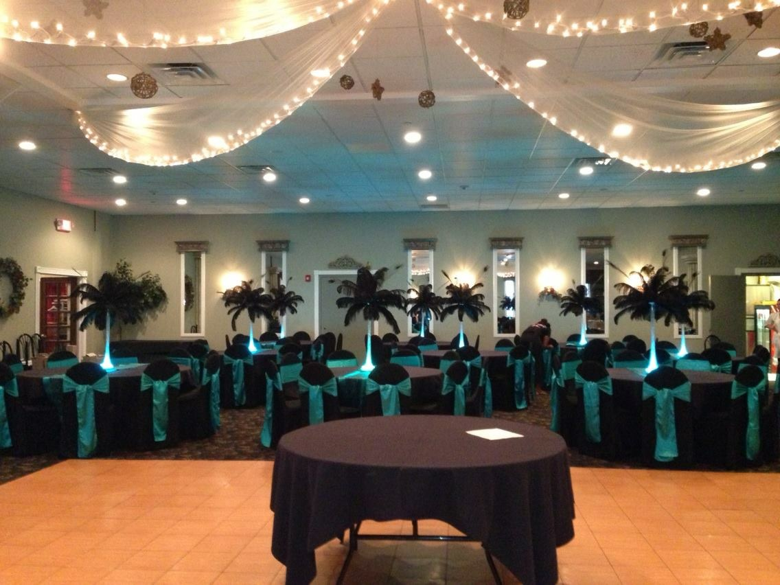 Black LED PLUME Centerpieces
