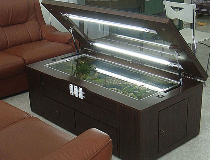 Hydrolic Tea Table Fish Tank