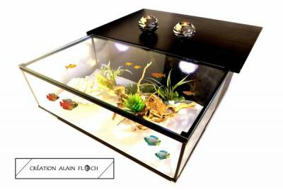 Half Board Tea Table Fish Tank