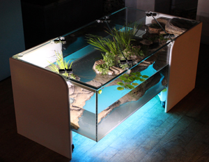 Terra Wood Cover Tea Table Fish Tank
