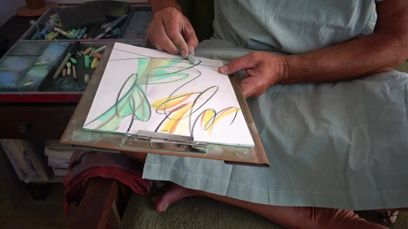 Sazan Malko_ Artist at work