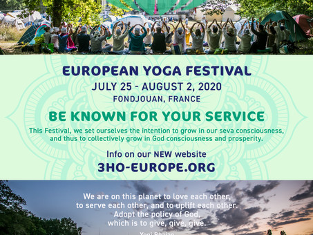 3HO EUROPE - 2020歐洲瑜伽節