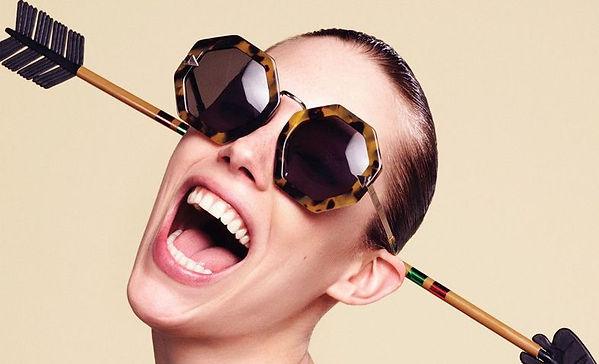 karen walker designer glasses model high fashion