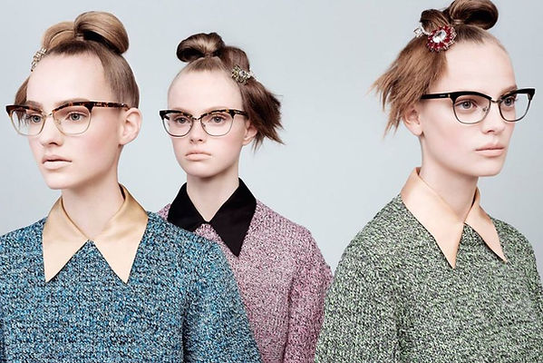 prada glasses high fashion designer model