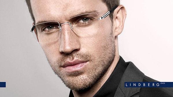 LINDBERG glasses man model high fashion designer glasses