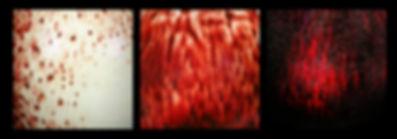 émaux rouge moucheté sur porcelaine