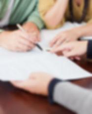 Underteckna ett kontrakt