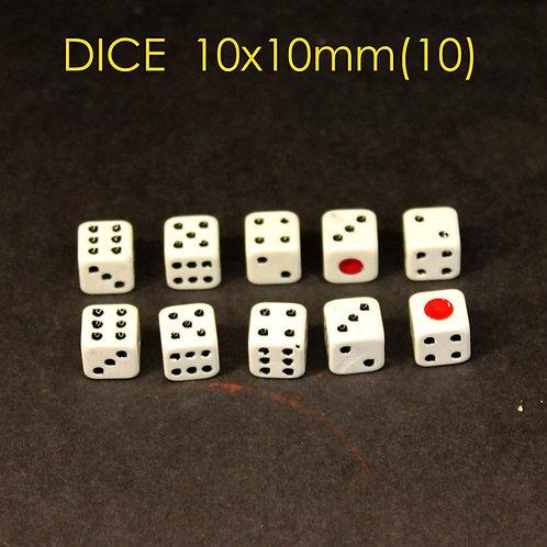 DICE 10x10mm