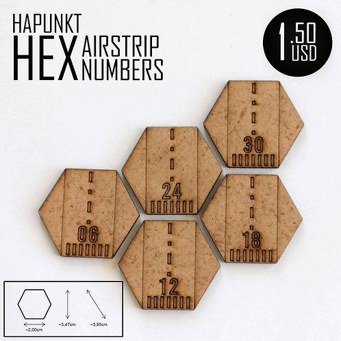HAPUNKT HEX AIRSTRIP NUMBERS