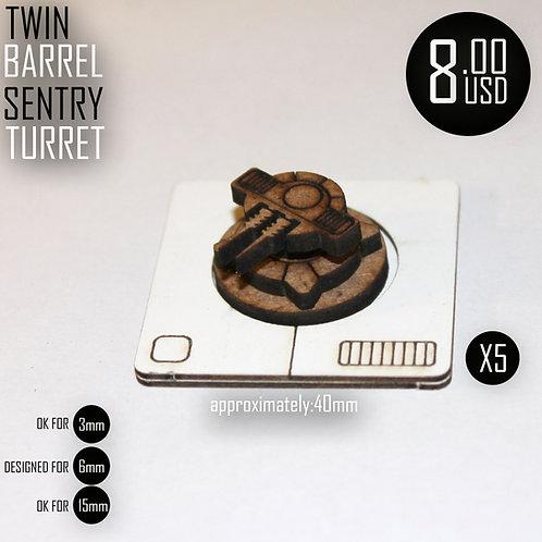 Twin Barrel Sentry Turret