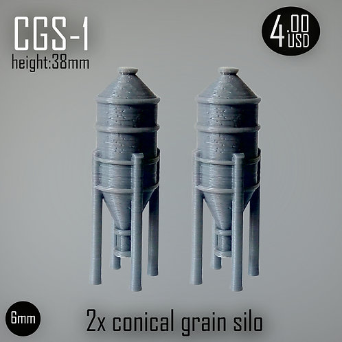 Conical Grain Silo 1