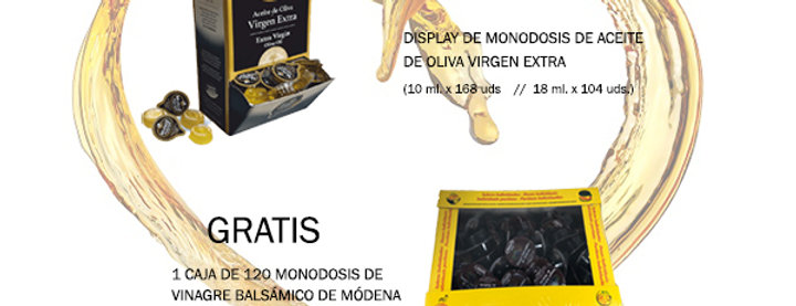 PACK MONODOSIS ACEITE + VINAGRE GRATIS