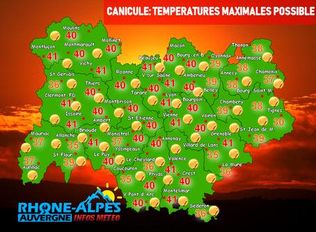 CANICULE EXCEPTIONNELLE: PLUS DE 40°C ATTENDU SUR UNE GRANDE PARTIE DE LA RÉGION !