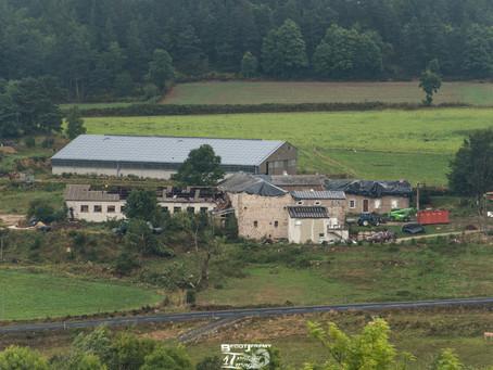 Haute-Loire : Une tornade EF2 provoque d'importants dégâts entre le massif du Meygal et vallée d