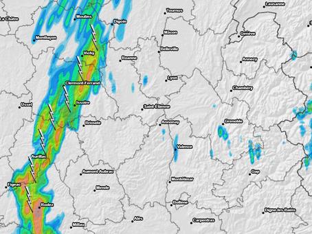 Météo : Dégradation orageuse par l'Auvergne samedi!