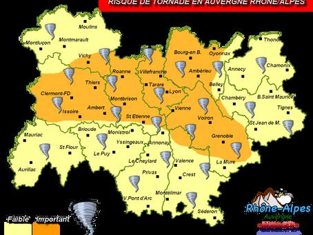 AUVERGNE/RHONE-ALPES: La région sous la menace des tornades?