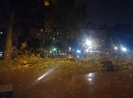 INTEMPÉRIES: les pluies diluviennes et les orages provoquent de nombreux dégâts sur la région !