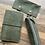 Thumbnail: Leather case medium green print