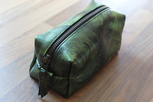 Leather case big green