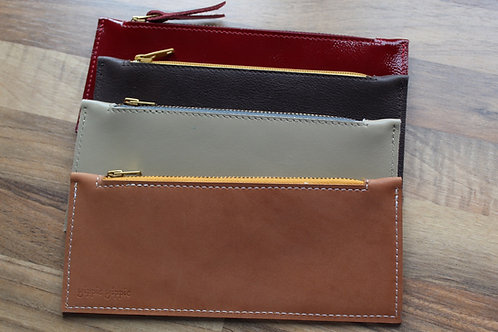 Leather case flat medium