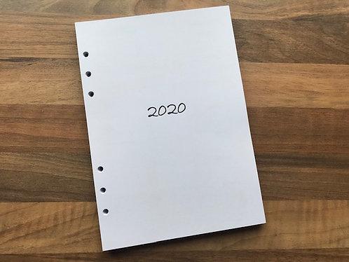 Agenda filling 2020