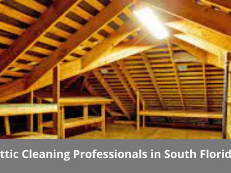 Get Attic Cleaning Professionals in South Florida