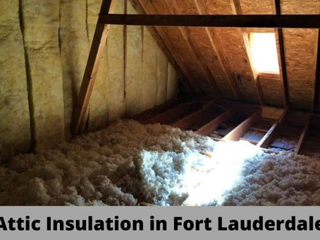 Attic Insulation in Fort Lauderdale