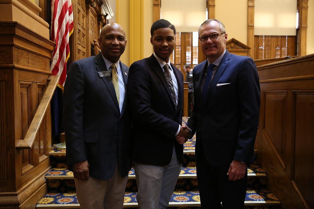 With Senator Lester Jackson and Lt.Governor Kasey Cagle