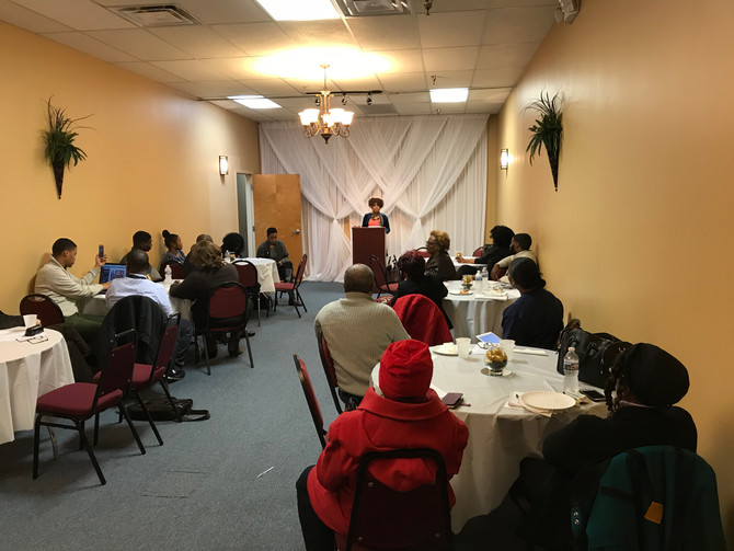 Georgia's solar-powered PSC candidate meets with Clayton County Democrats