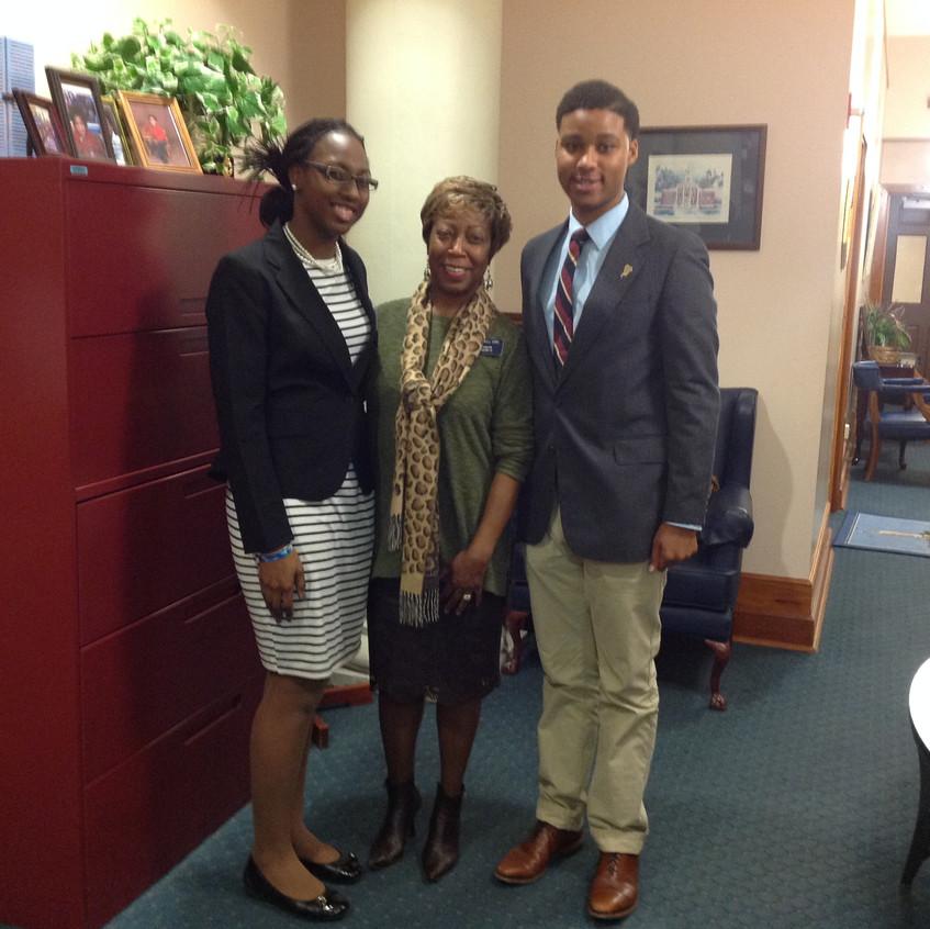 Senator Freddie Sims and Ms. Edwards