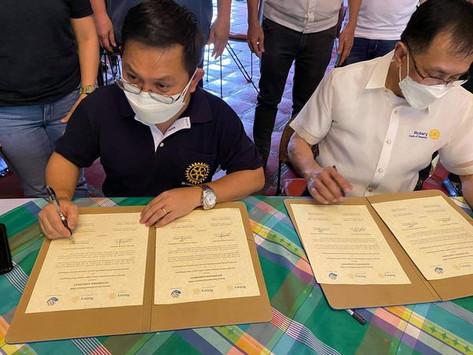 Signing of Sisterhood Agreement with RC Angono D3800