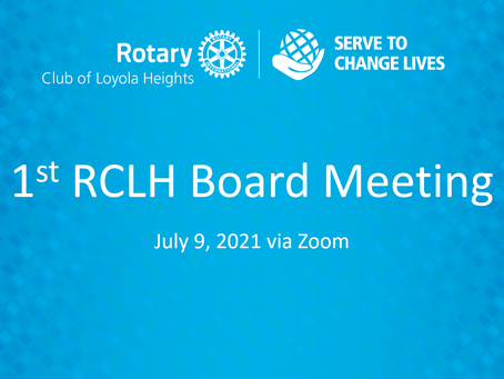 1st RCLH Board Meeting