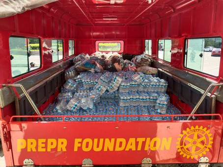 Donation of Bottled Water