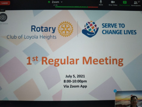 1st RCLH Regular Meeting