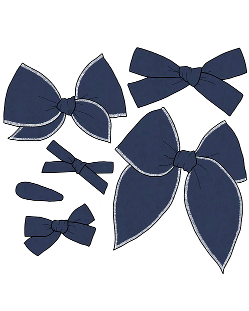 Navy | Dark Blue Solid Bows