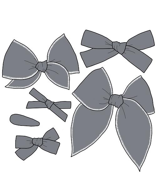 *Wholesale* Slate | Dark Grey Solid Bows