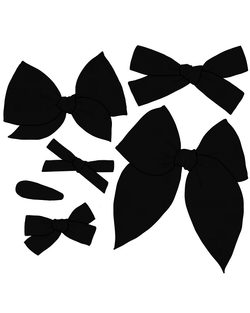 *Wholesale* Midnight | True Black Solid Bows