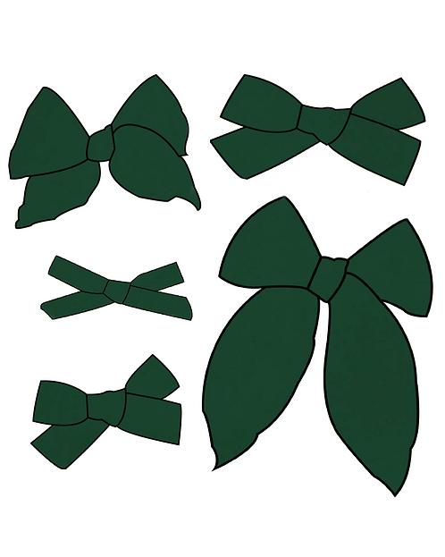 Evergreen | Dark Green Solid Bows