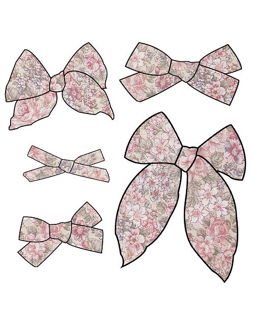 Cordelia | Pink Floral Hair Bows