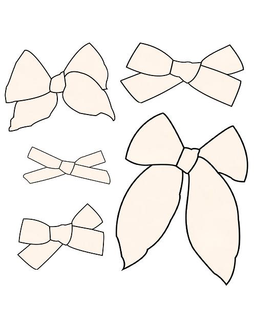 Buttercream | Light Cream Solid Bows