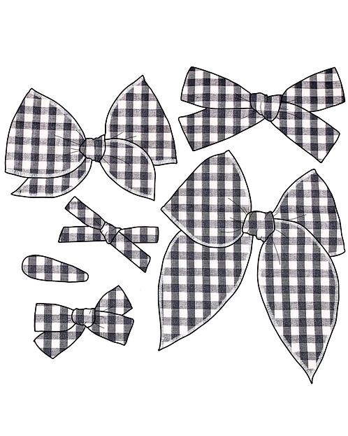 Eve | Black & White Plaid Bows