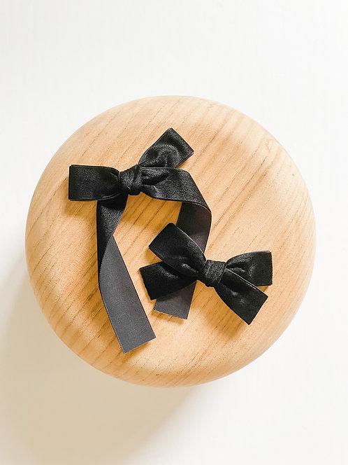Black Velvet Ribbon Bows