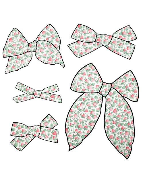 Jewel | Vintage Strawberry Print Bow