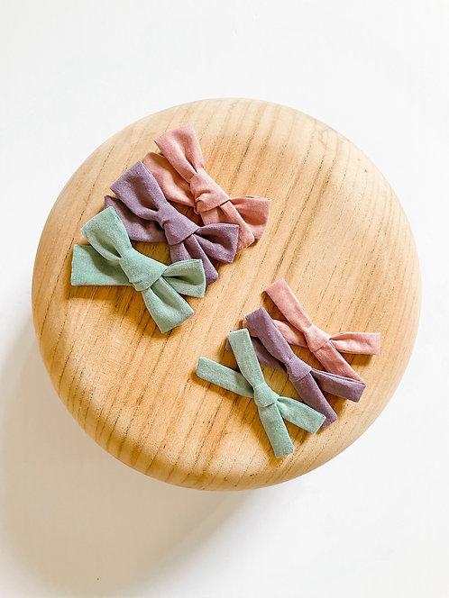 The Pastel Bow Set